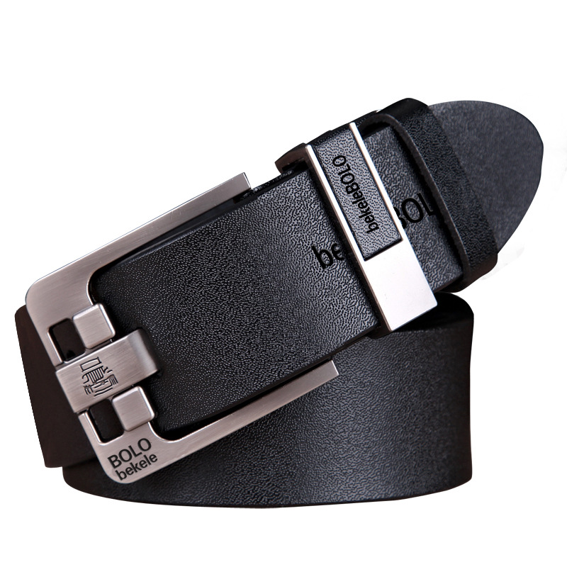 Luxury   Belt   Men's   Belts   Pin Buckle Man's Genuine Leather Strap for Jean High Quality Wide Brown Color Fashion Male   Belt   Designer