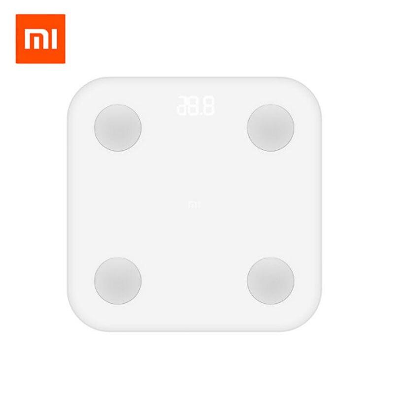 Xiaomi Mi Échelle Intelligente 2ème Poids Santé Mifit APP Corps Composition moniteur Caché LED Affichage Et Grands Pieds Pad Corps Graisse BMR Test
