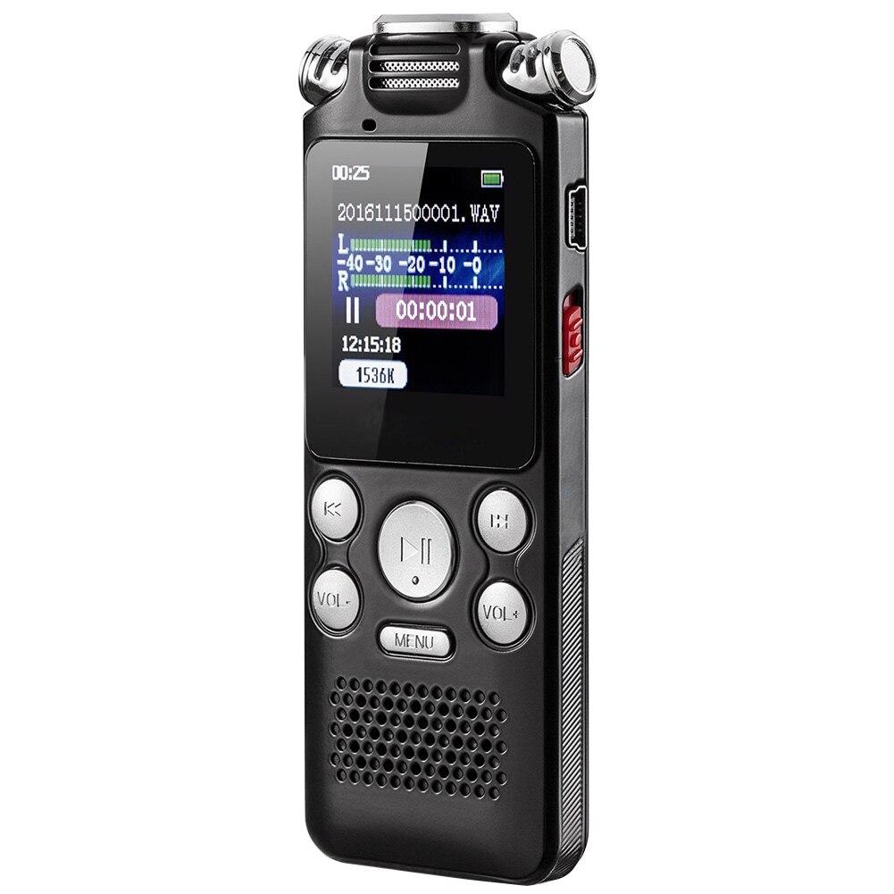 Affichage couleur Mini USB charge multifonction Dictaphone activé réduction du bruit enregistreur vocal numérique Microphone bidirectionnel