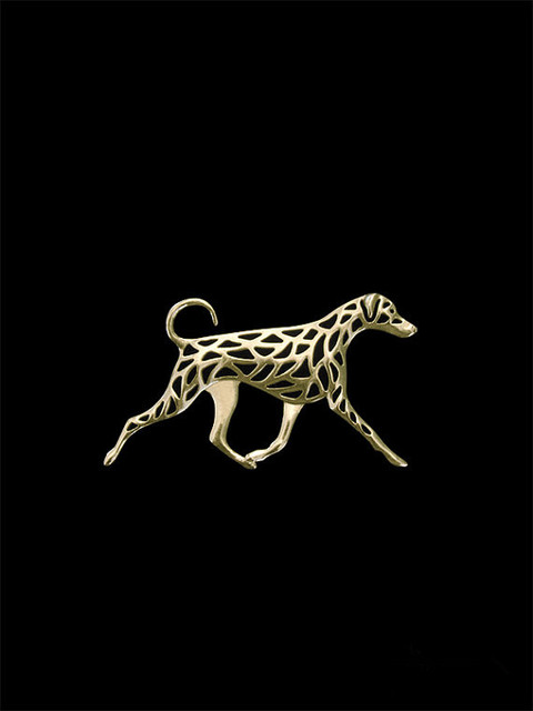 Wholesale trendy Doberman natural ears and tail dog dog brooches and pins gold color silver color men brooches hand of king