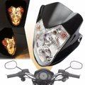Off-road Moto Bike ATV Modificado Ámbar Luz H4 Hi/Bajo Moto Faros con Lámpara de Señal de Vuelta