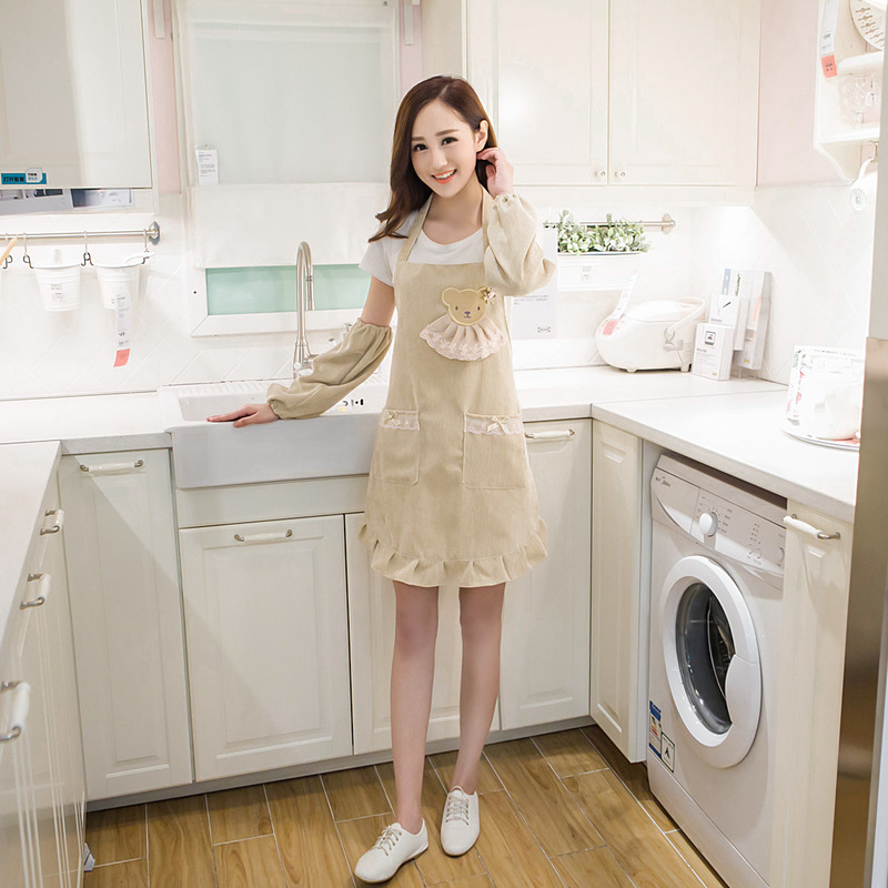 Jewelry & Watches 100% True Fashion Apron Waterproof Anti-kitchen Cafe Cute Princess Cooking Good For Energy And The Spleen Watches, Parts & Accessories