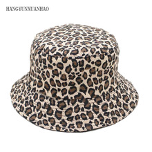 HANGYUNXUANHAO 2019 New Fashion Leopard Print Bucket Hat Fisherman Outdoor Travel Sun Cap Hats for Men and Women