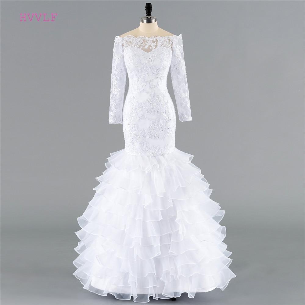 Cheap Vestido De Noiva 2019 Wedding Dresses Mermaid Sweetheart Appliques Lace Boeaded Plus Size Boho Wedding Gown Bridal Dresses