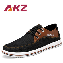 AKZ Spring Summer loafers Men's casual shoes Canvas shoes for men Denim soft Comfortable Breathable Walking Shoes Male Shoes yjrvfine wonderful meteor shower men casual shoes walking comfortable breathable unisex canvas pure hand painted shoes r1029m