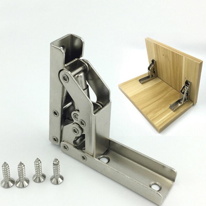 90/180 Degree Folding Hinge Cold Rolled Steel Door Cabinet Closet Door Hinge Furniture Corner Connection Hardware Accessories
