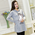 Plus Size Long Sleeve Maternity Tops Casual Cotton Pregnancy Clothes Nursing Clothes for Pregnant Women Breastfeeding Clothes