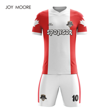 0366bd147 JOY MOORE Men s New Orange red white Color Soccer Jerseys Sets Can Custom  any pattern