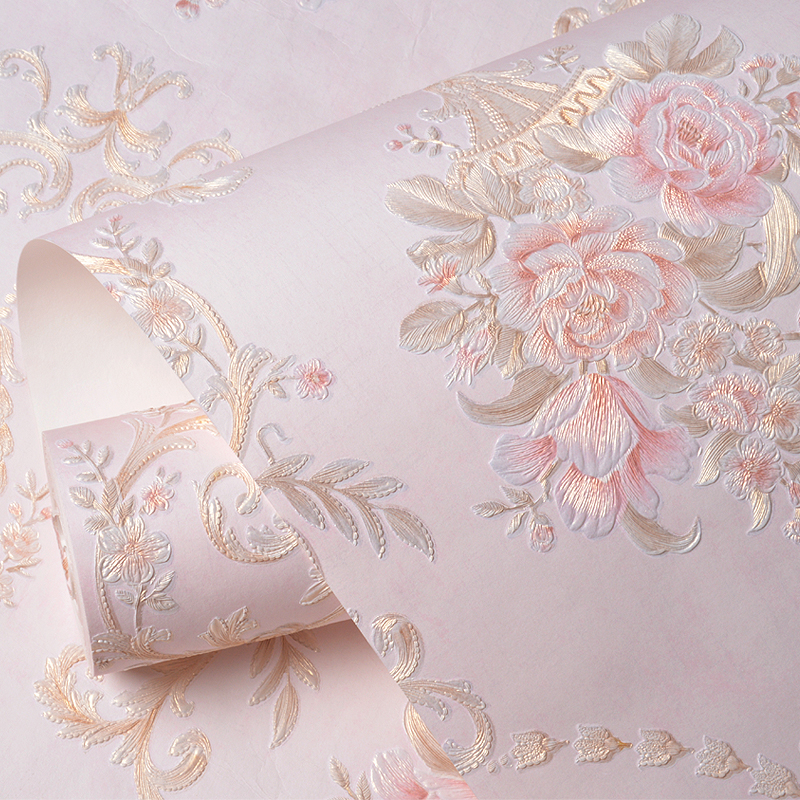 Rococo Style Floral Wallpaper Self Adhesive Sticker Roll Contact Paper In Wallpapers From Home Improvement On Aliexpress
