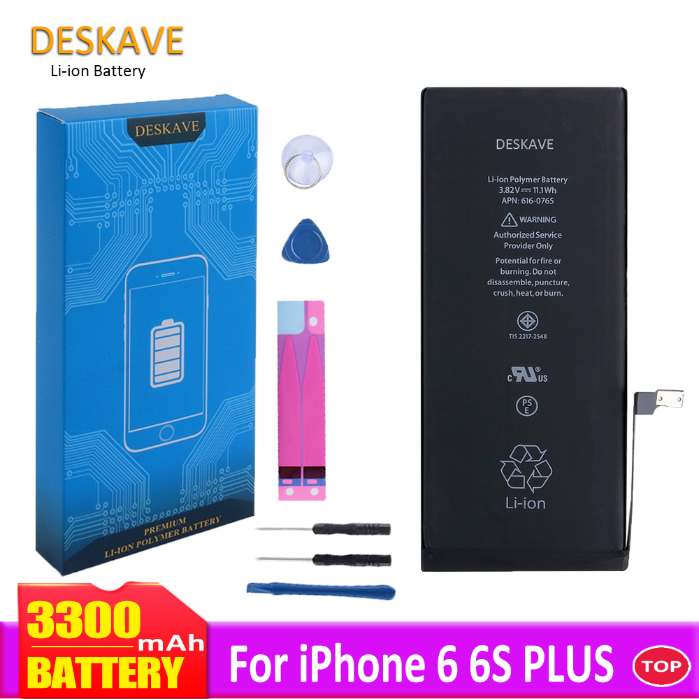 High Capacity Battery For iPhone 6 6S Plus 6P 6SP Replacement Batteries 3300 mAh 6SPlus Mobile Phone Batteria +Tools