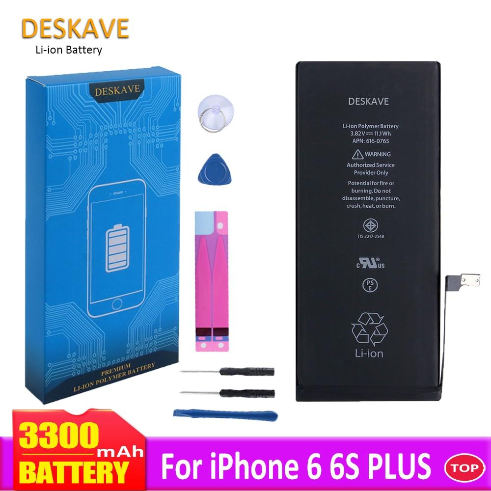 High Capacity Battery For iPhone 6 6S Plus 6P 6SP Replacement Batteries 3300 mAh 6SPlus Mobile Phone Batteria +Tools