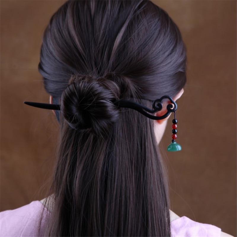 Retro Women Wooden Carved Hair Stick Hair Chopsticks Jewelry Accessories