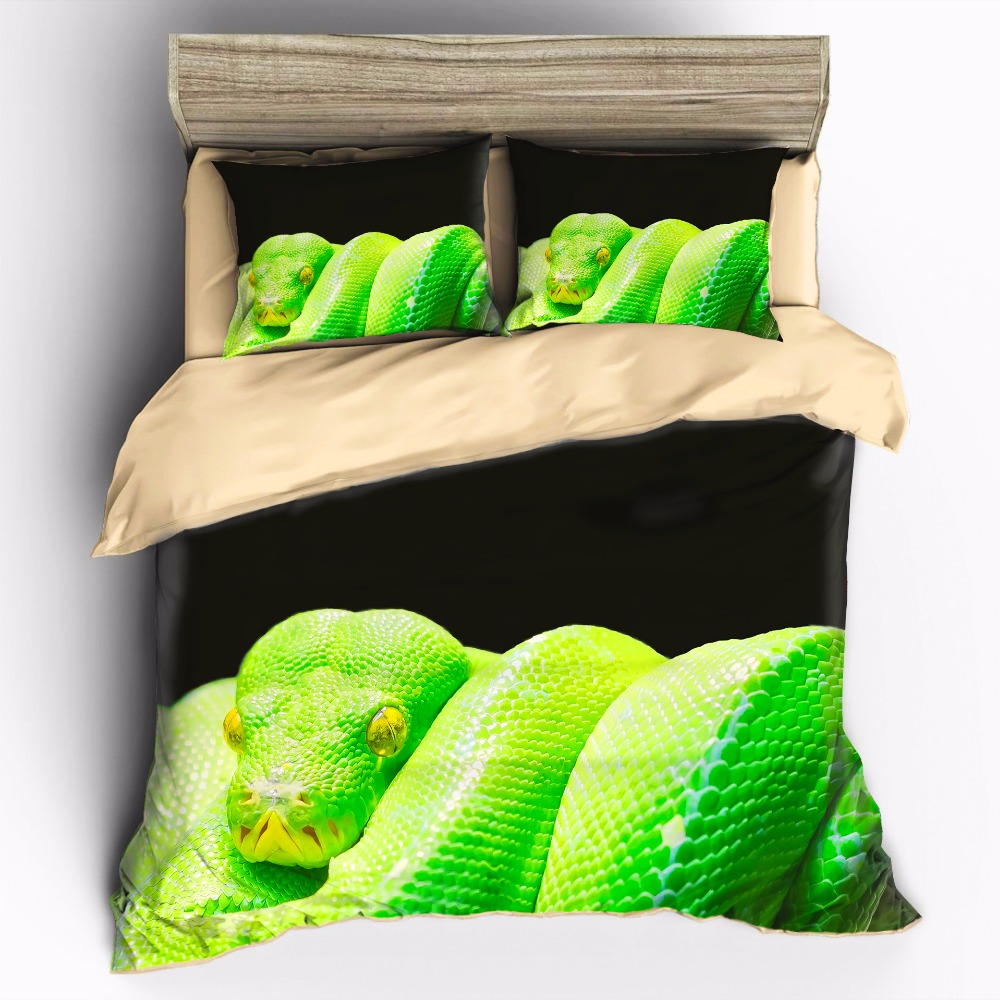AHSNME High Definition Photo Print Picture Terrifying Chondropython viridis Customizable Bedding Sets Duvet Cover pillowcase setAHSNME High Definition Photo Print Picture Terrifying Chondropython viridis Customizable Bedding Sets Duvet Cover pillowcase set