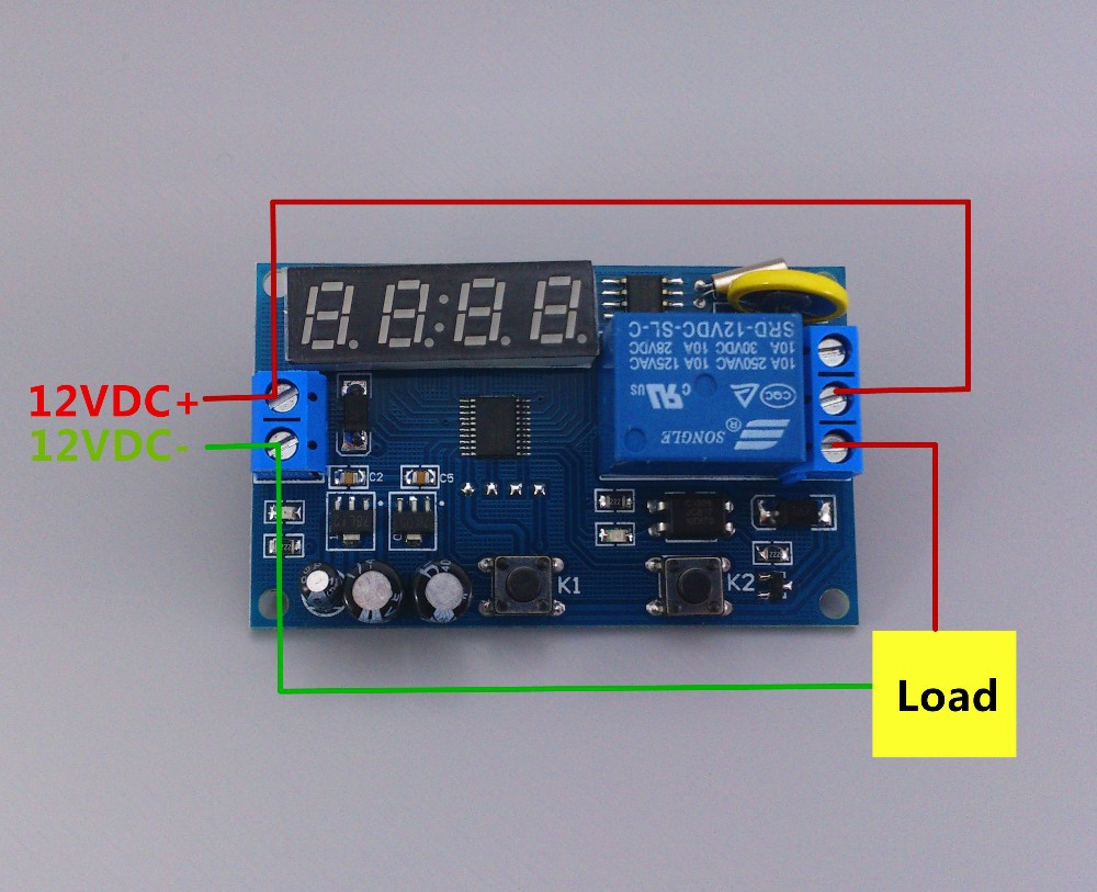 Real Time Relay Timing Switch Clock Synchronization Control Common Terminal On Often Start And End Connected To The Public Normally Closed Disconnect