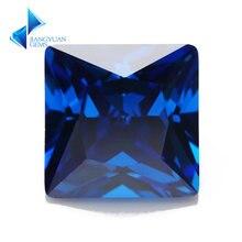 Размер 3x3 ~ 10x10 новый синий квадратной формы 5a cz камень