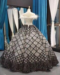 Image 5 - J66758 jancember quinceanera robes 15 robe de bal hors de lépaule bateau cou étage longueur robe de bal robes de quinceaneras