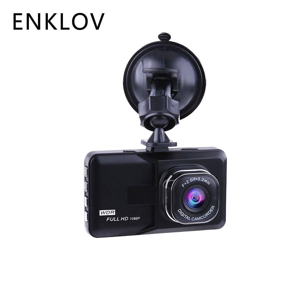 Enklov del DVR Dash cámara de conducción video recorder 1080 p coche Cámara gran angular registrador de conducción HD Dash cam LCD de visión nocturna dvr