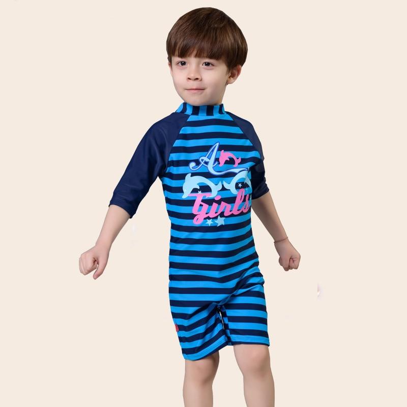 free shipping swim suit children one-piece-suit strip swimming suit