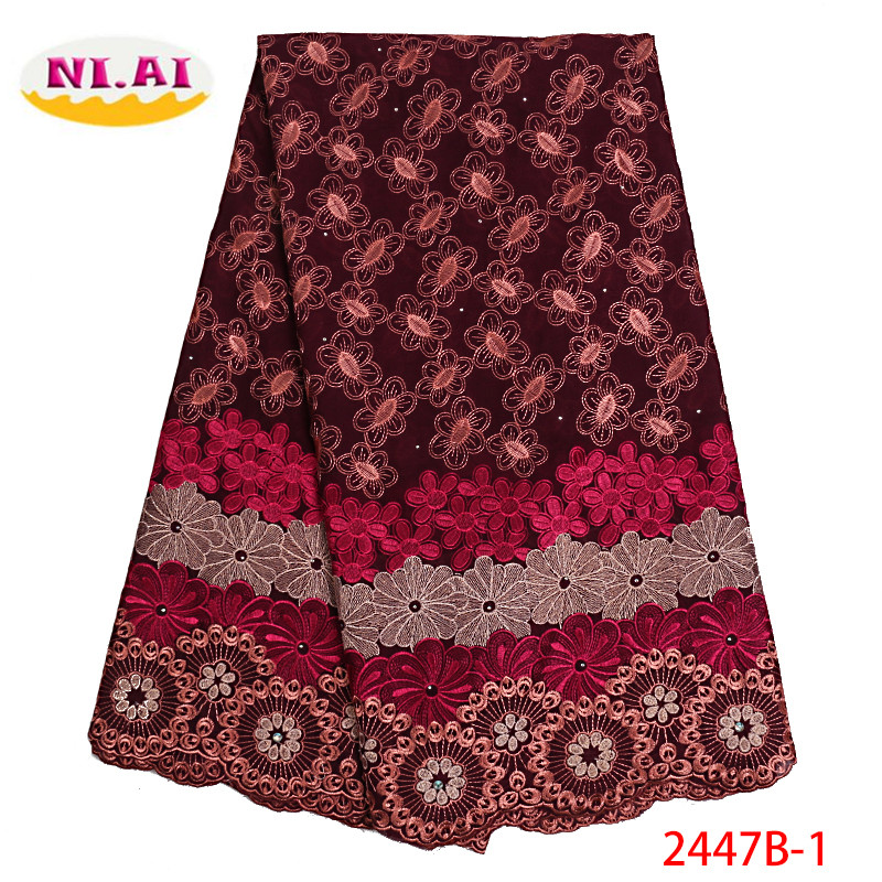Nigerian Swiss Voile Lace African Swiss Lace Fabric 2019 High Quality African Swiss Cotton Voile Lace