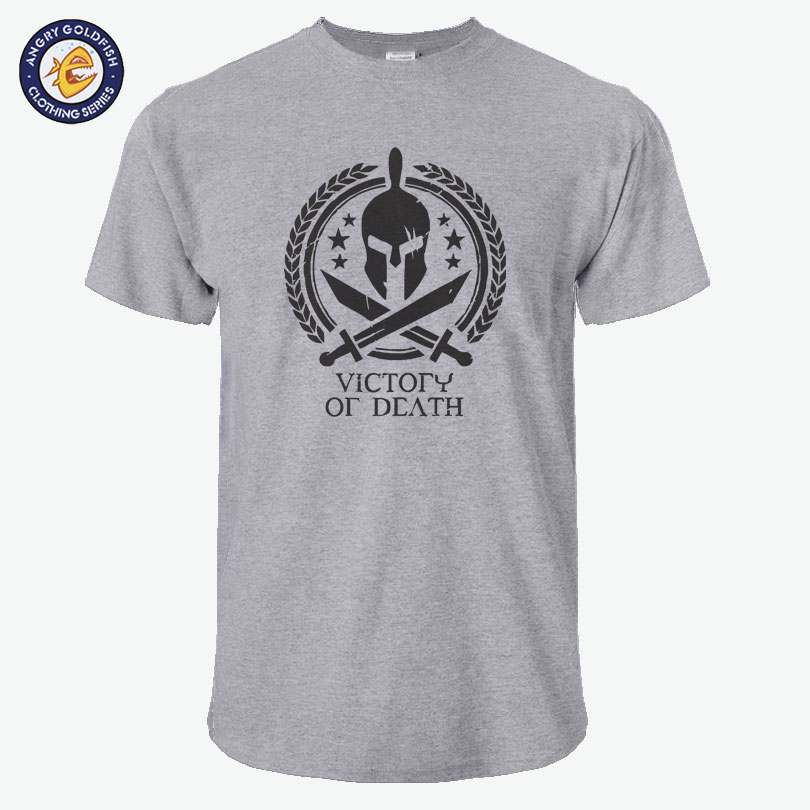 Cotton Casual Victory Or Death Mens T Shirts Top Quality