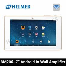 7 «WI-FI аудио цифровой стерео усилитель, сенсорный экран в стене системы android, дома USB аудио плеер, HDMI домашнего кинотеатра