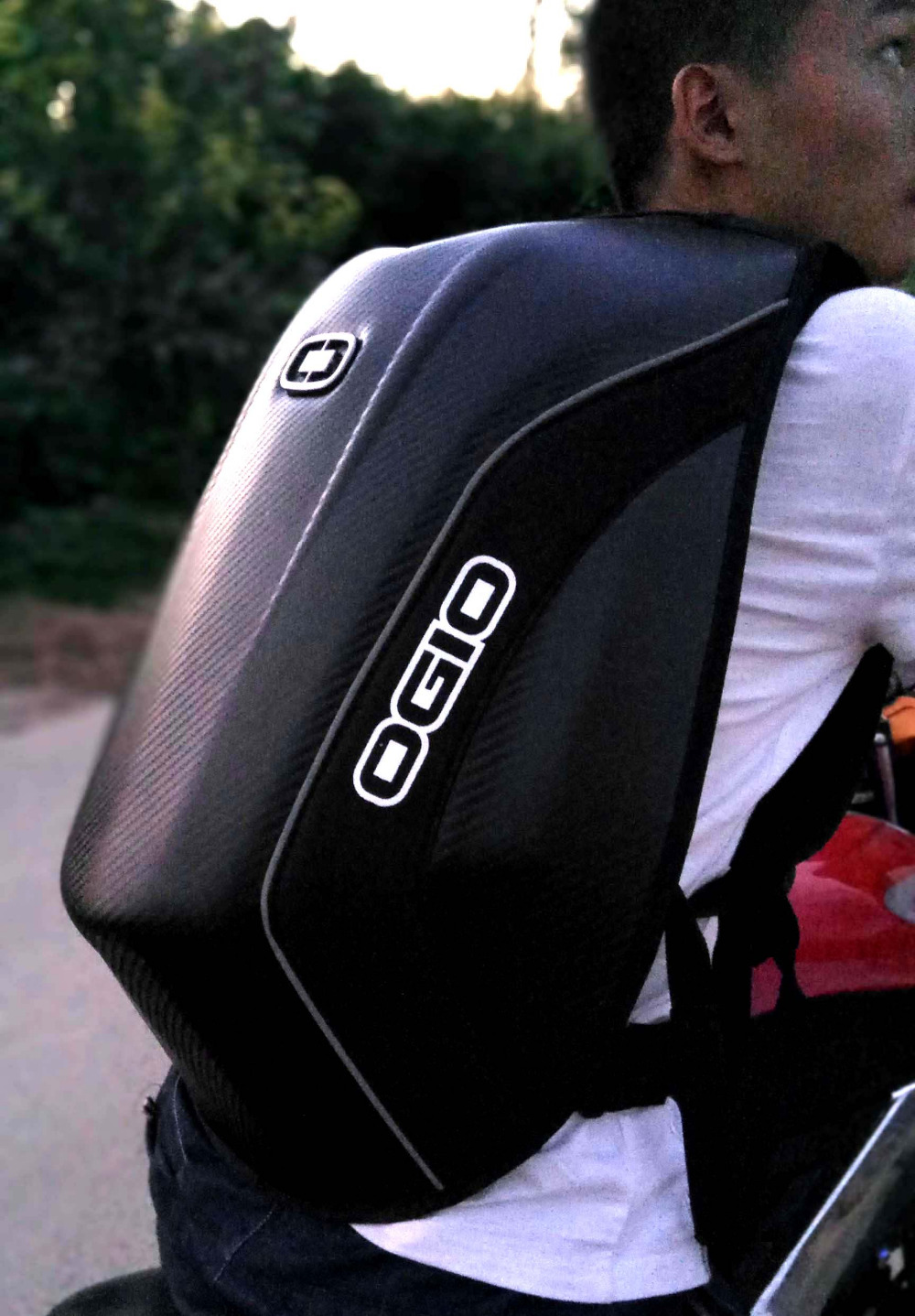 2016 OGIO Mach 5 carbon fiber mach 3 fashion backpack Motorcycle ...