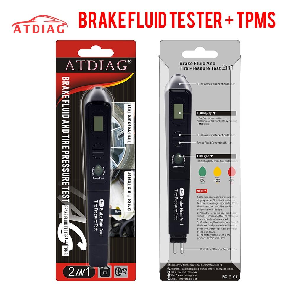 Проверка качества масла, универсальный тестер тормозной жидкости TPMS 2 в 1, автомобильный тестер тормозной жидкости, инструмент для тестиров...