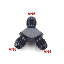 Carburante per auto linea di Alluminio Y Tipo di Montaggio A Tre Vie Filo connettore a Y un 6 Y tipo di maschio del collegamento Raccordo