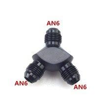 Linha de combustível do carro de alumínio y tipo encaixe três vias fio y conector um 6 y tipo conexão macho montagem