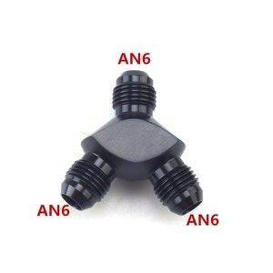 Image 1 - Linha de combustível do carro de alumínio y tipo encaixe três vias fio y conector um 6 y tipo conexão macho montagem