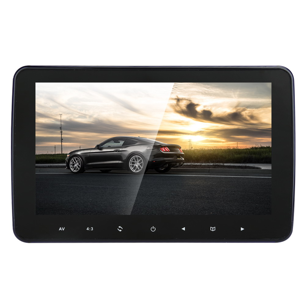 10 Inch HD Digitl LCD Screen Car Headrest Monitor 1024*600 DVD Player USB/SD/FM TFT 16:9/4:3 Auto Choose MEL eincar car 9 inch car dvd pillow headrest two monitor lcd screen usb sd 32 bit game fm ir multimedia player free 2 ir headphones