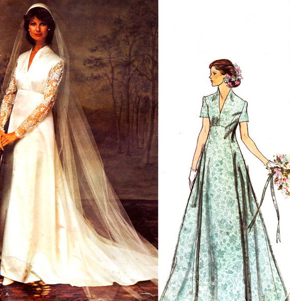 Vintage Dress Patterns Empire Waist