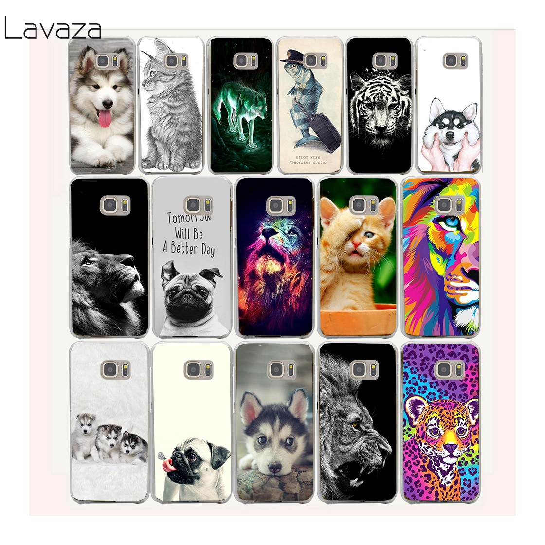 dog and tiger Hard Transparent Case Cover for Galaxy S3 S4 S5 & Mini S6 S7 Edge Plus Case Cover