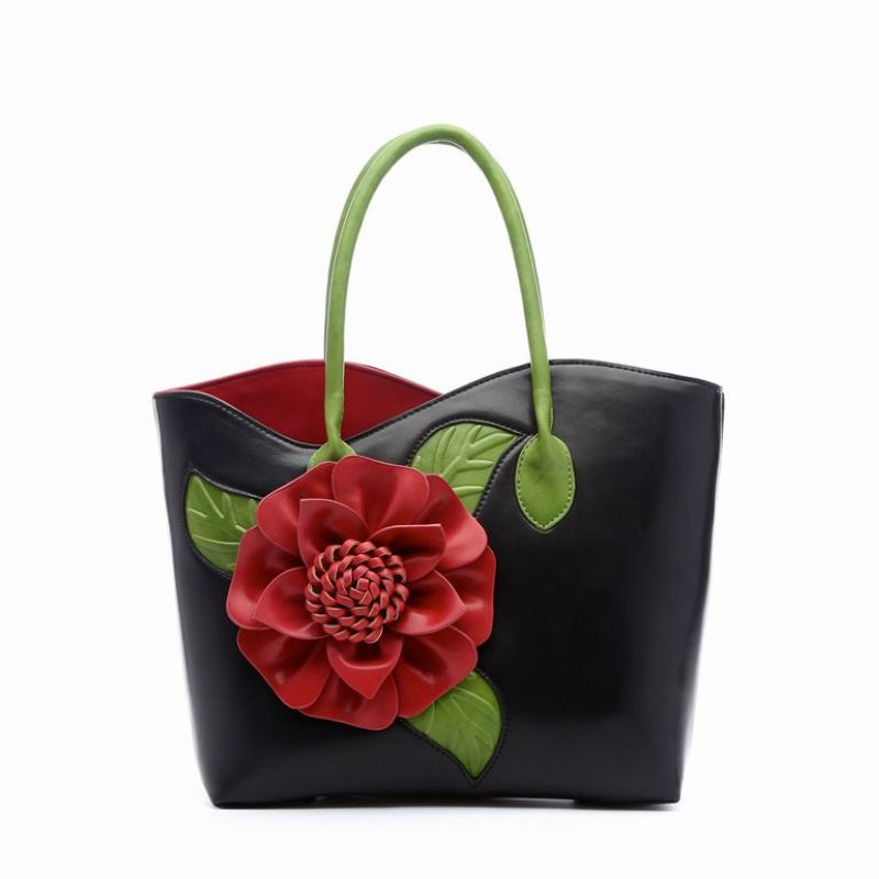 High Quality Women Bag Pu Leather Shoulder Bags Vintage Women Handbags National Style Top-hand Bags Ladies Bolsa Feminina H6042 high quality pu leather bags women floral handbags famous brand clutch purses ladies tote bolsa feminina classic grain top bag