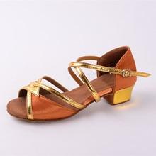 Brown Latin Dance Shoes Girls Woman Children Shoes Salsa Ballroom Dancing Shoes Zapatos De Baile Latino Mujer Free Shipping