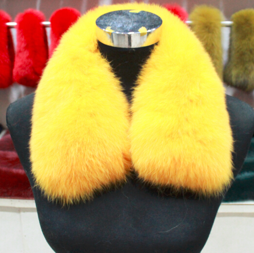 free shipping handmade 100% real fox fur collar / scarf luxury natural fox fur neck for women 12 colors
