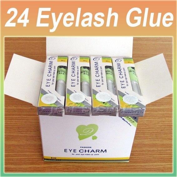 24PCS/lot Smelless False Eyelash Glue / Makeup Eyelashes Extension Adhesive Eye Putti Glue