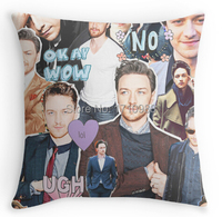 Free shipping james mcavoy collage Custom Pillowcase Zippered Pillow Case(two sides) for 12x12 14x1416x16 18x18 20x20 24x24 inch