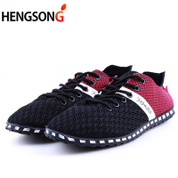 Men Casual Shoes Spring Air Mesh Fabric Cloth Patchwork Mens Loafers Leisure Canvas Shoe For Men