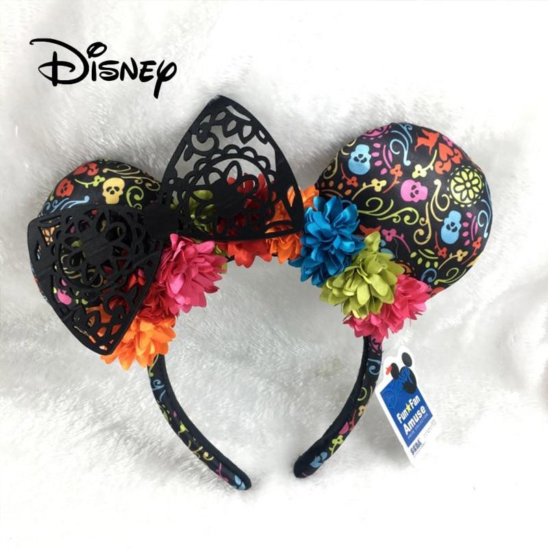 Disney Accessories Mickey Ear Cartoon Disneyland Headdress Hair Kawaii Plush Toys For Girls Fashion Dress Up Toy Birthday Gifts
