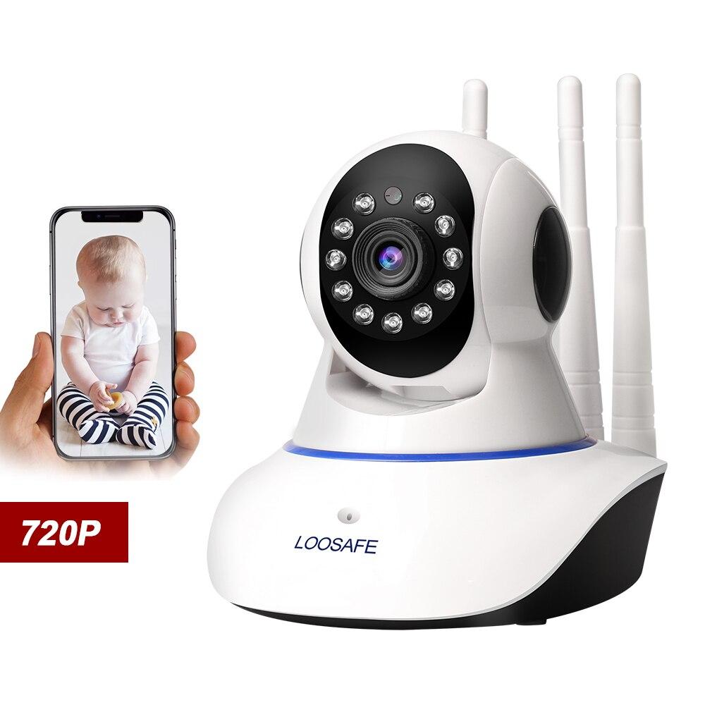 LOOSAFE Home Security Câmera IP de rastreamento Automático de PTZ Nuvem Wifi IP Camer P2P IRCut Night IR Gravação de Áudio HD CCTV vigilância