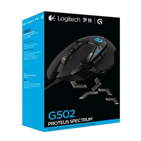 Logitech G502 souris de jeu professionnelle supporte la programmation multi-boutons souris RGB 12000 DPI haltérable