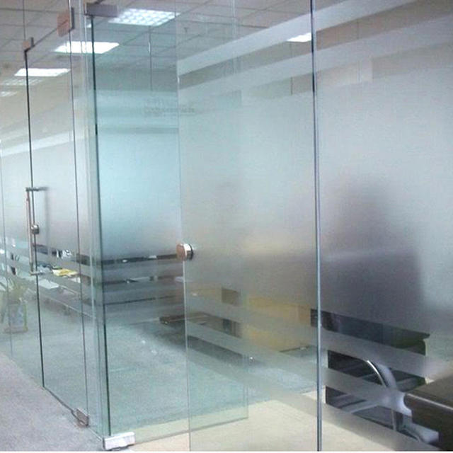 Pvc Frosted Window Film Waterproof Self Adhesive Glass