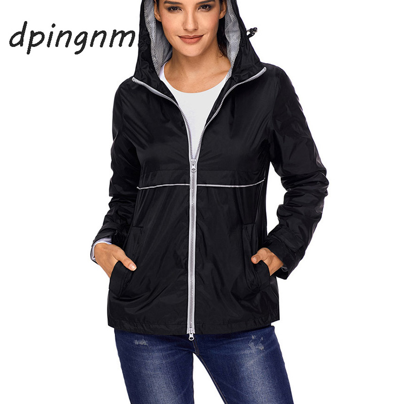 2018 New Fashion Bomber   Jacket   Women's Hooded   Basic     Jacket   Casual Thin Windbreaker Female Outwear Women Coat