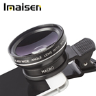 Super wide angle lens + macro lens 2 in 1 cell phone camera lens kit