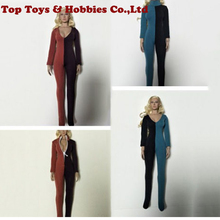 1/6 Female Jumpsuits Costume Splice Color Clothes Fit 12 Seamless Body inches PH Doll Figure