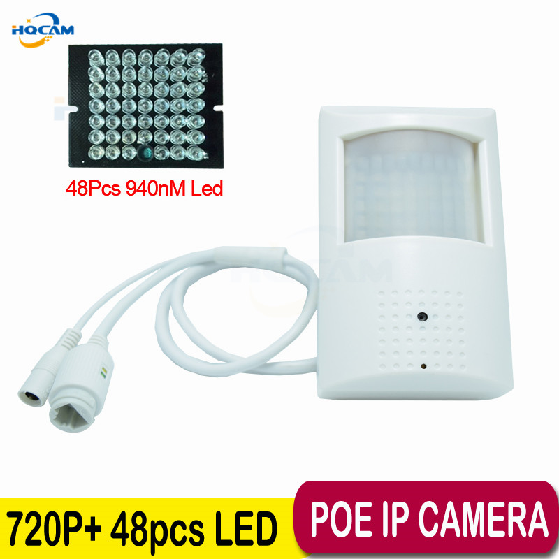 HQCAM 720P poe ip camera Night Vision 940nm infrared ip camera IR POE PIR Style Motion Detector ONVIF IR led MINI IP Camera PoE hqcam 1080p poe pir style motion detector wifi camera onvif 48pcs 940nm ir cut night vision p2p mini wifi poe ip camera page 2