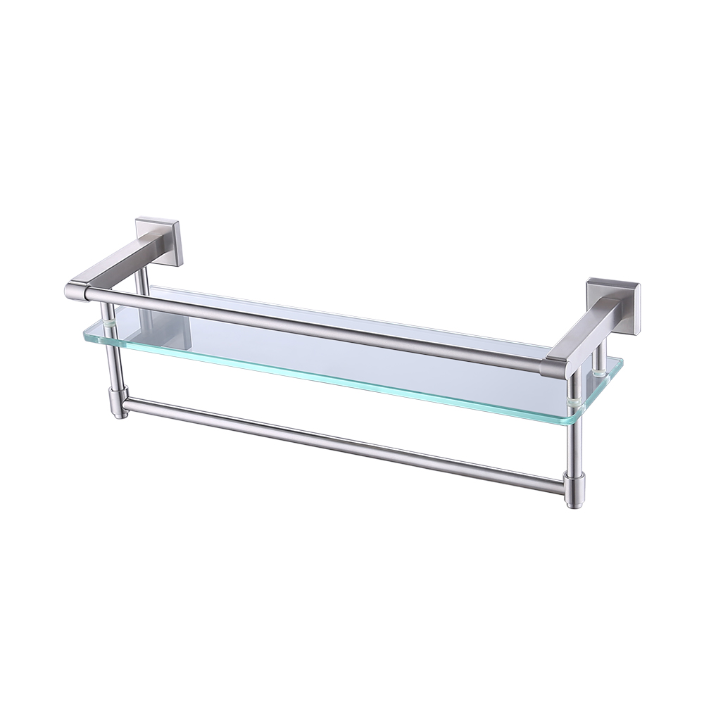 Glass shelving bathroom - Aliexpress Com Buy Kes A2225 2 Sus304 Stainless Steel Bathroom Glass Shelf Wall Mount With Towel Bar And Rail Brushed Finish From Reliable Sus304