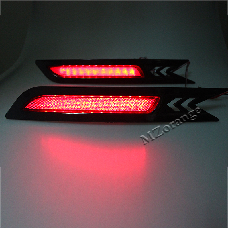 Car styling For Honda CRV 2010 2011 Reflector LED Back Tail Rear Bumper Light Brake Lamp Stop Warning Light in Car Light Assembly from Automobiles Motorcycles