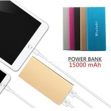 Original bluleki Power Bank 15000mAh Portable Charger Mi Powerbank External Battery Pack for Mobile Phone Backup Powers+Case
